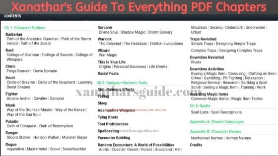 Xanathar's Guide To Everything PDF Chapters