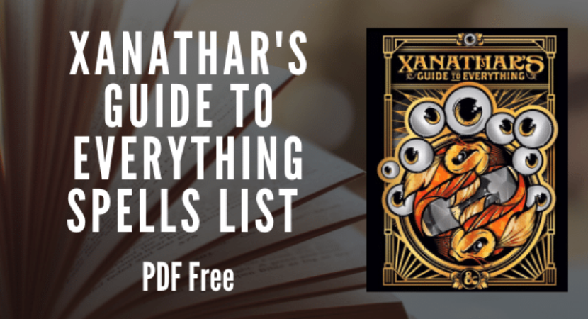 Xanathars Guide to Everything Spell